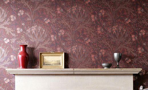 Papel de parede Andastra vermelho marrom Ver quarto