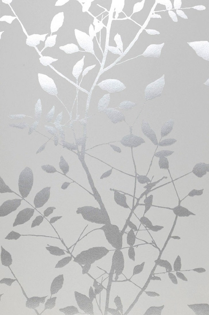 Carta da parati glorette bianco grigiastro argento for Carta da parati damascata argento