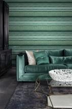 Papel de parede Sofonas Brilhante Imitação pedra Listas Tons de verde