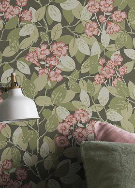 Wallpaper Hedera green grey Raumansicht