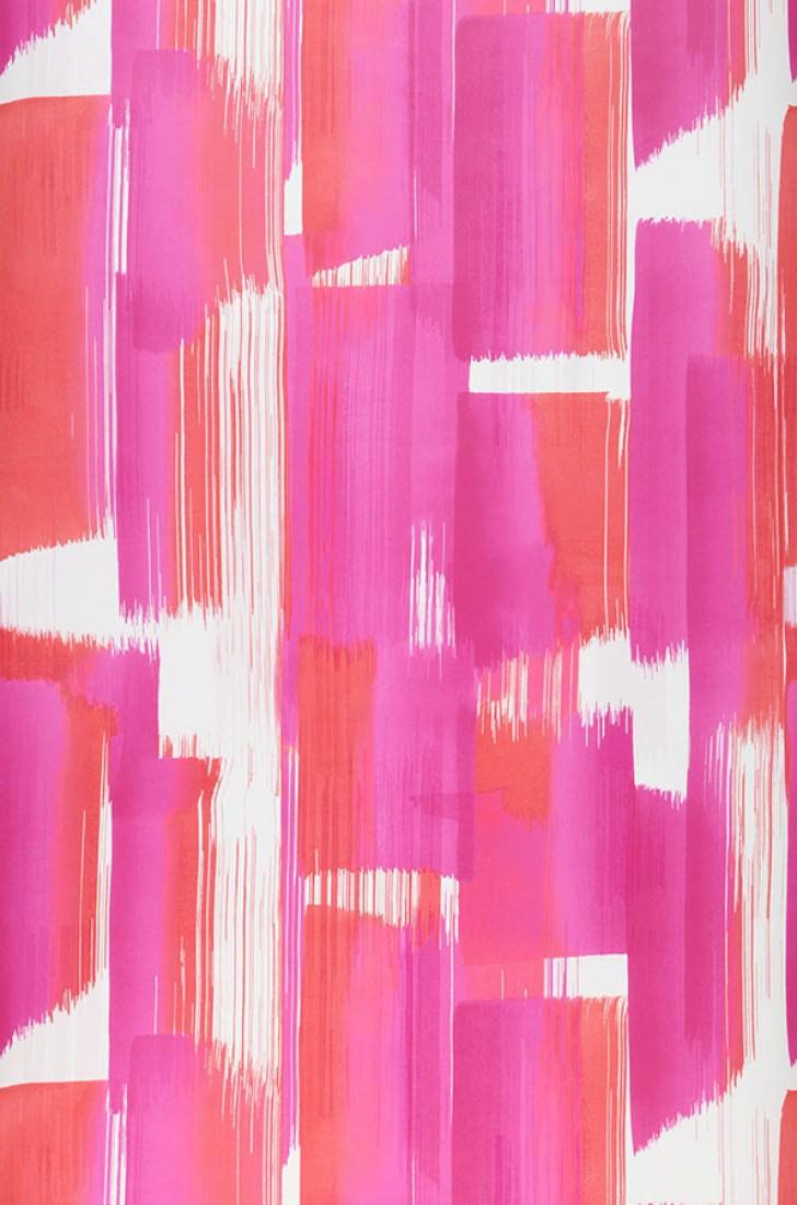 Papel pintado pandero rosa rojo blanco papeles de los 70 for Papel pintado de los 70