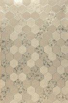 Wallpaper Hexagono Shimmering Hexagons Gold