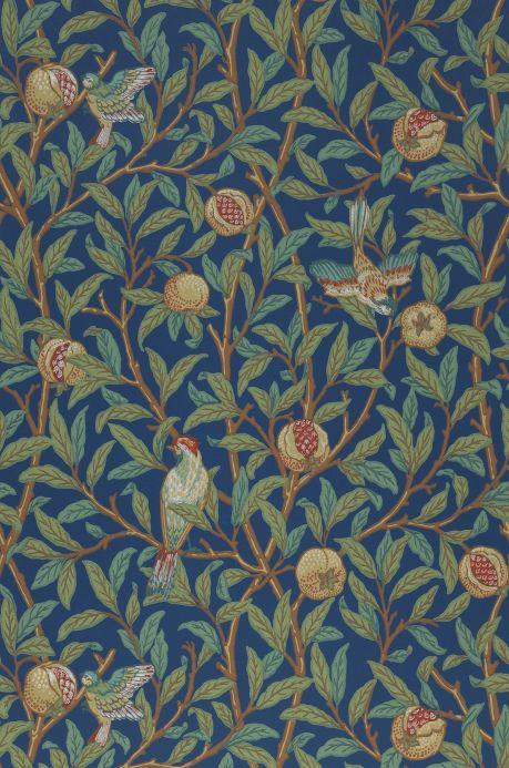 Papel de parede botânico Papel de parede Jakobine azul celeste Largura do rolo