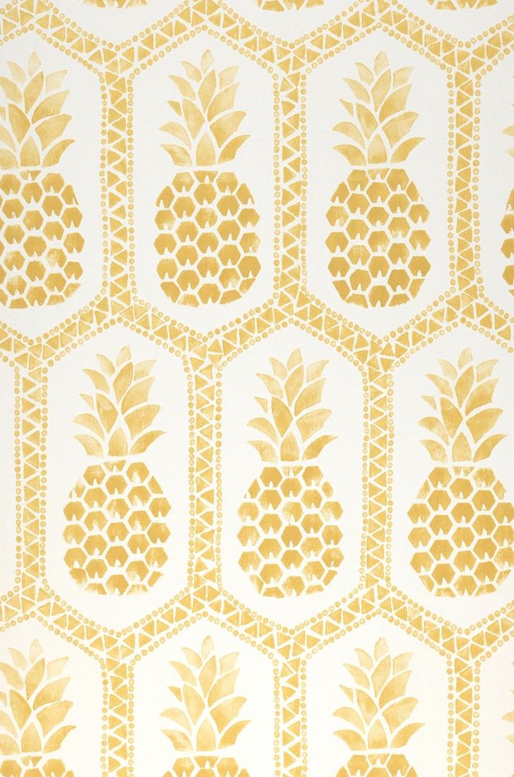 Papel pintado polly blanco crema oro brillante - Papeles de los 70 ...