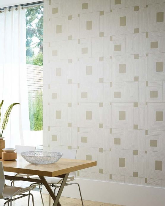 Archiv Wallpaper Oni grey beige Room View