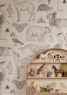 Papel pintado Animal blanco Raumansicht