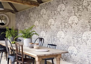 Wallpaper Roderik Matt Trees Brown grey Cream