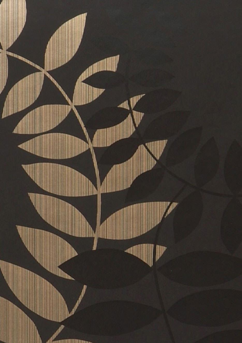 Tapete amphion anthrazit gold schwarz tapeten der 70er for Tapete gold schwarz