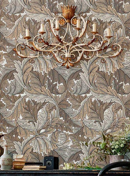 Classic wallpaper Wallpaper Patagonia grey brown Room View