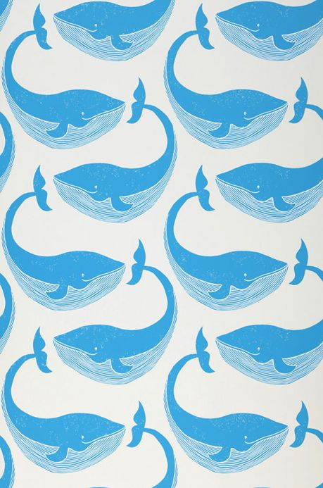 Children's Wallpaper Wallpaper Moby Dick capri blue Roll Width