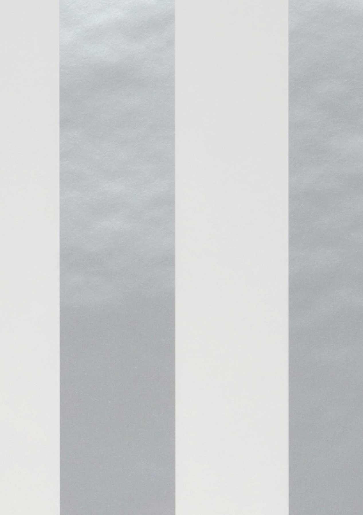 Papier Peint Zuleika Argent Brillant Blanc Papier