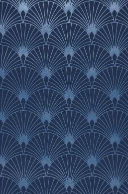 Papel pintado Babylone azul oscuro A4-Ausschnitt