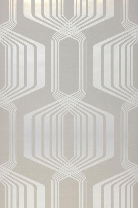 Papier peint design Papier peint Rumba gris blanc Largeur de lé