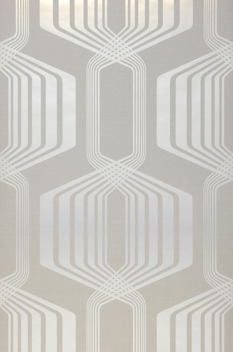 Papel de parede design Papel de parede Rumba cinza esbranquiçado Largura do rolo