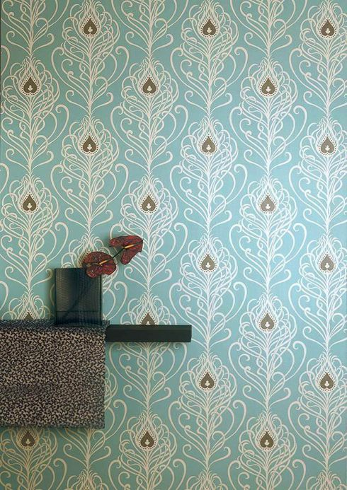 Archiv Wallpaper Elektra cream Room View