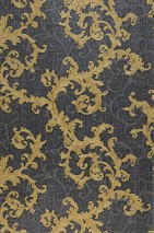 Wallpaper Gloriosa Matt Baroque elements Anthracite Grey Pearl gold