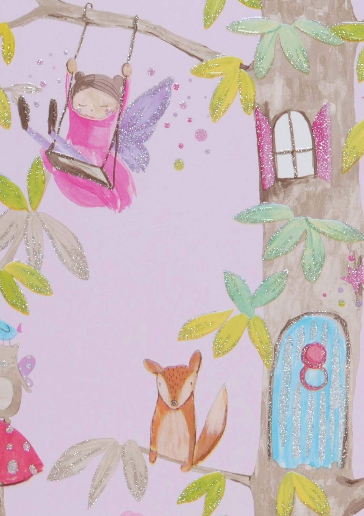 tapete ebbelie blassviolett gr ngelb glitzer lila glitzer pink t rkisblau glitzer. Black Bedroom Furniture Sets. Home Design Ideas