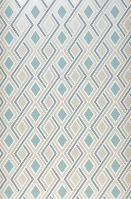 Papier peint Iroko turquoise pastel Largeur de lé