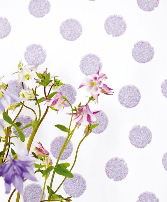 Geometric Wallpaper Wallpaper Corbetta blue purple glitter Room View