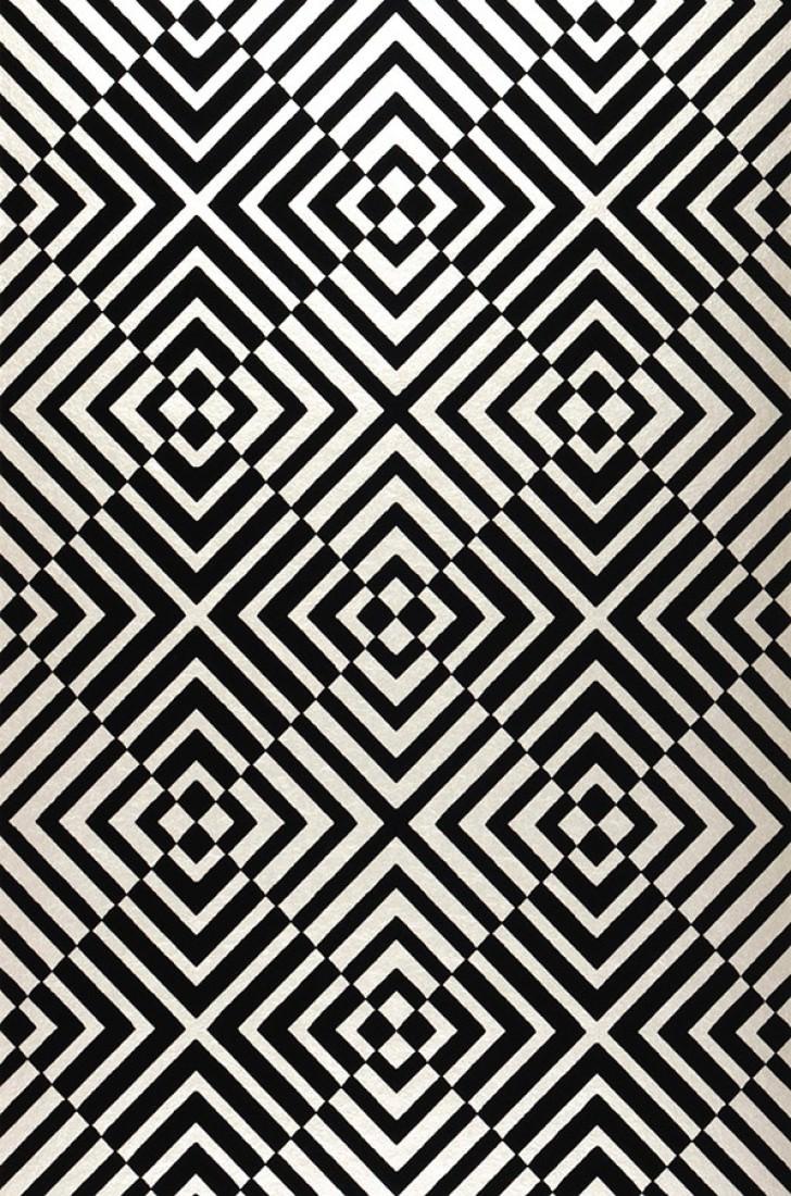 Papel pintado nirvana plata negro papeles de los 70 - Papeles pintados de los 70 ...