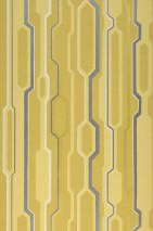 Wallpaper Captain Future Matt Geometrical elements Light yellow Anthracite shimmer Cream Curry yellow Gold yellow shimmer