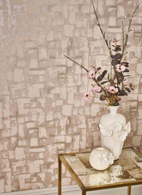 Wallpaper Musa pale pink shimmer Raumansicht