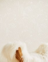 Wallpaper Persephone Matt pattern Shimmering base surface Palm fronds Cream