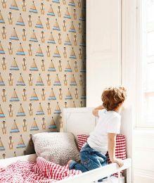 Wallpaper Indian tipi blue