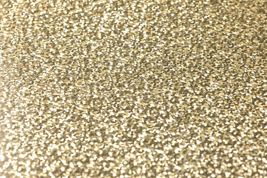 Wallpaper Lexa Hologram effect Small diamonds Gold lustre