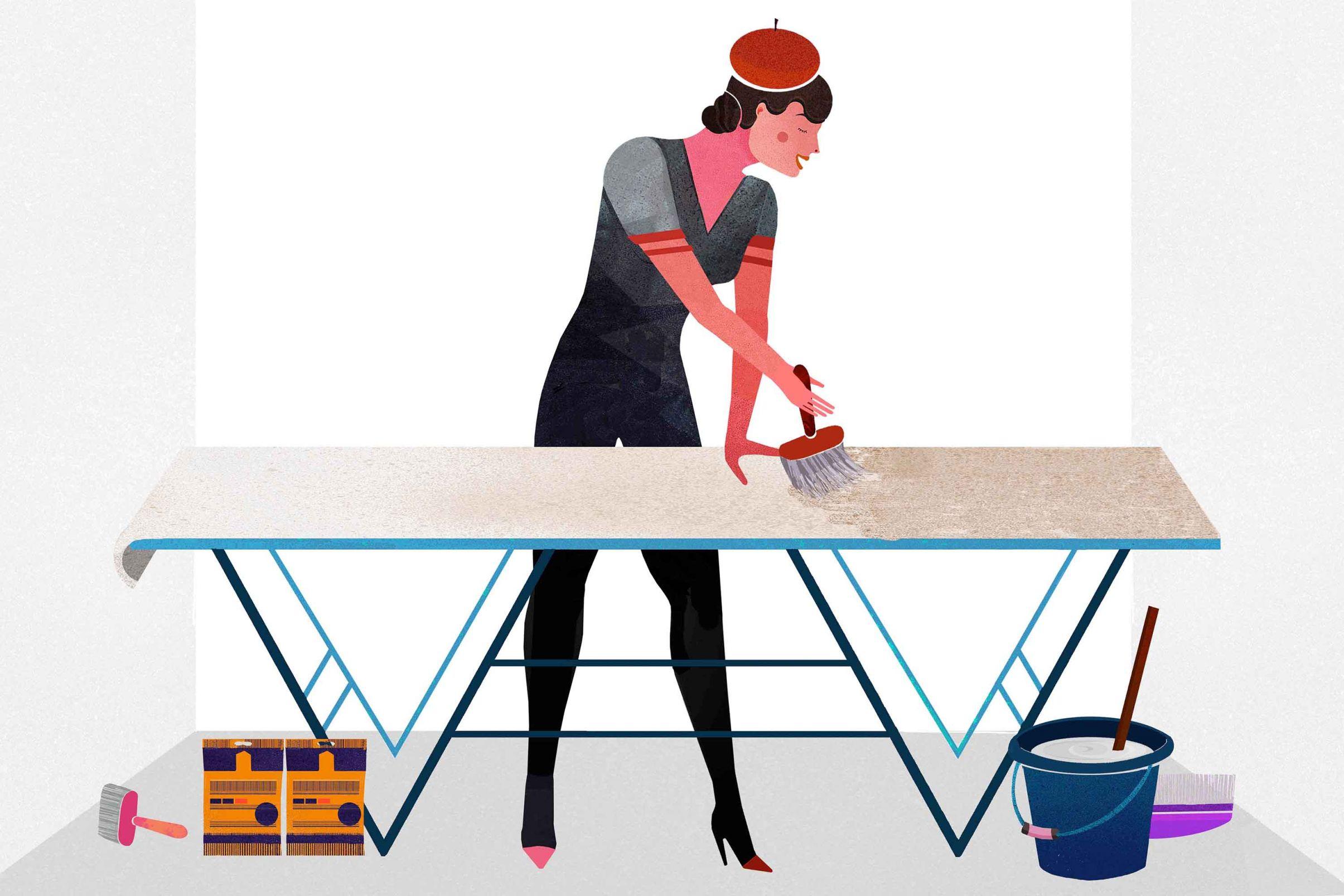 Como-colocar-papel-pintado-con-base-de-papel-Aplicar-la-pasta-al-papel