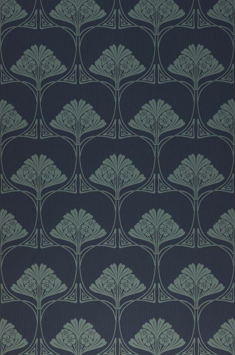 Classic Wallpaper Wallpaper Harmony black blue Roll Width