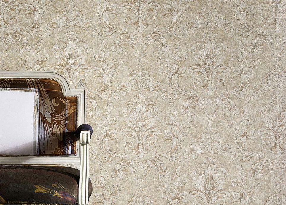 Carta da parati Versace Carta da parati Vinicius avorio chiaro Visuale camera