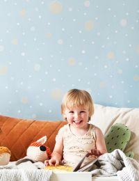 Wallpaper Confetti pale blue