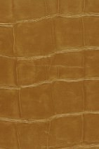 Wallpaper Croco 09 Shimmering Imitation leather Gold