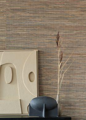 Papier peint Grass on Roll 14 beige brun Raumansicht