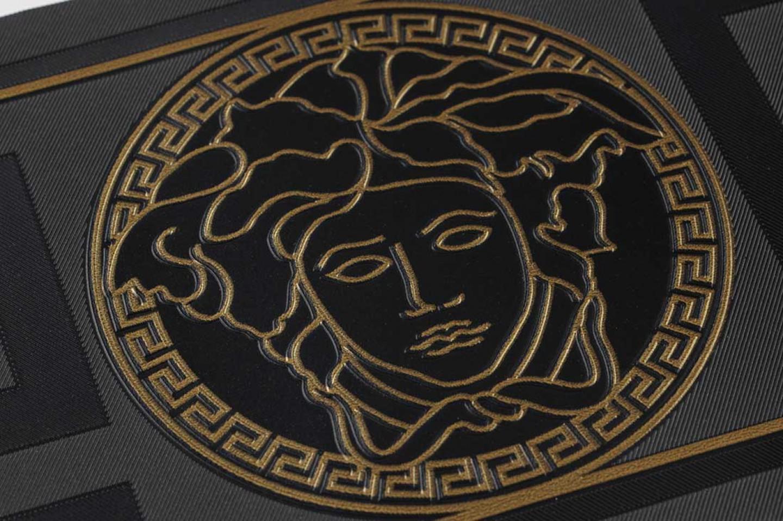 Wallpaper arabella black gold wallpaper from the 70s - Versace logo wallpaper hd ...