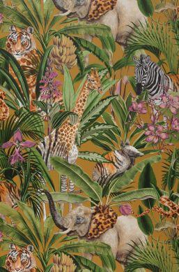 Wallpaper Kanajawa ochre yellow Bahnbreite