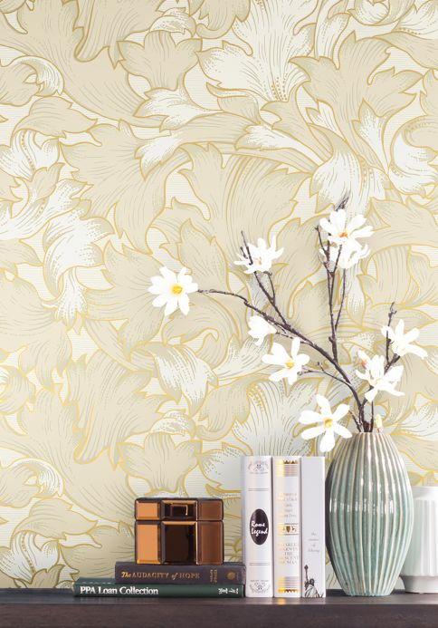 Classic Wallpaper Wallpaper Epinal light ivory Room View