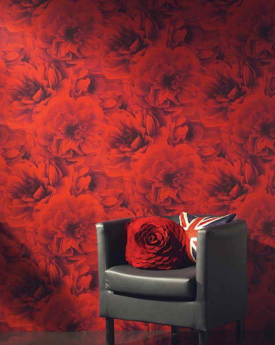 Archiv Papel pintado Melope rojo Ver habitación