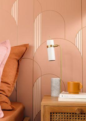 Papel pintado Gordan palo de rosa Raumansicht
