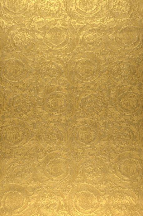 Papel pintado damasco Papel pintado Talora oro Ancho rollo