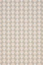 Carta da parati Arles Effetto stampato a mano Opaco Elementi grafici Grigio beige Arancione marrone tenue Bianco crema