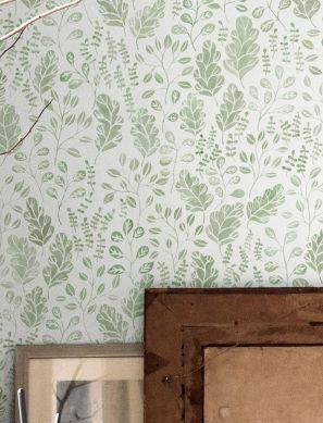 Wallpaper Rosina green Room View