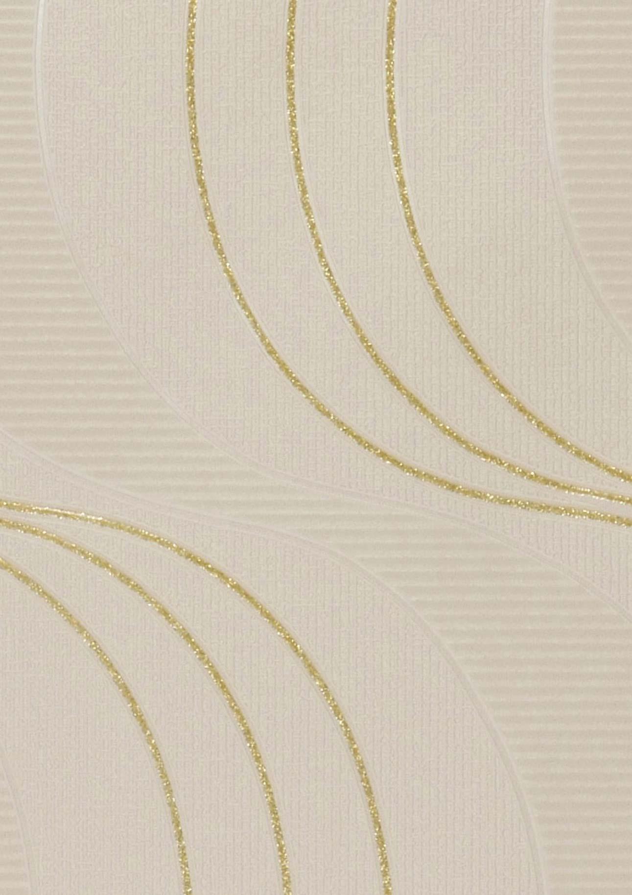 papier peint keiko beige or brillant papier peint des ann es 70. Black Bedroom Furniture Sets. Home Design Ideas