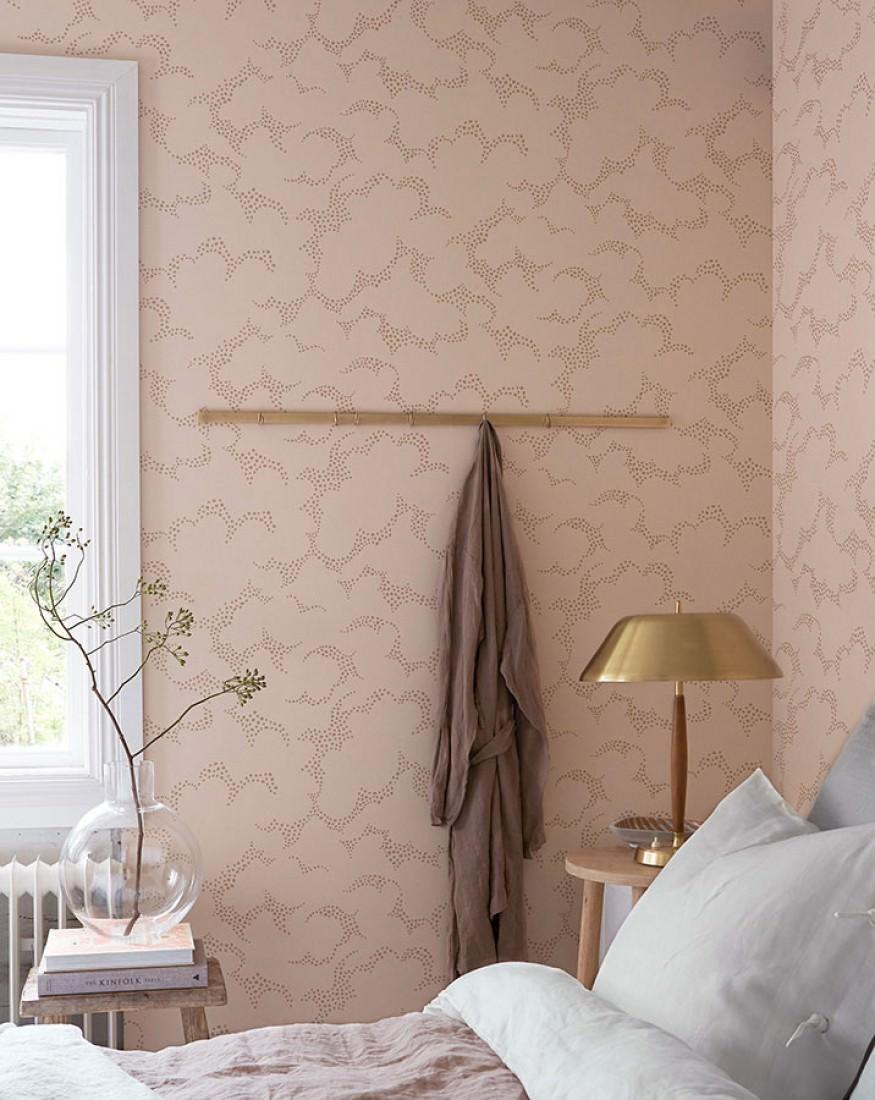 Reina ros p le beige gris papier peint nouveaut motifs du papier pei - Papier peint nouveaute ...