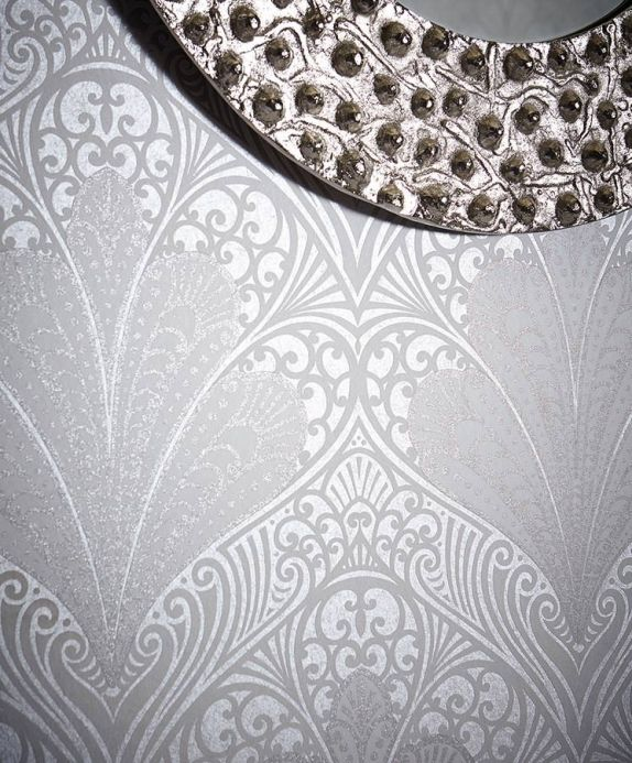 Archiv Wallpaper Astoria silver grey shimmer Room View