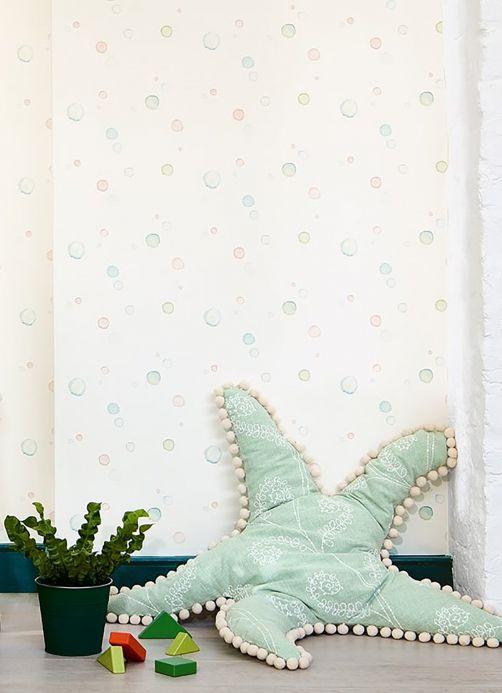 Geometric Wallpaper Wallpaper Wiwa cream Room View