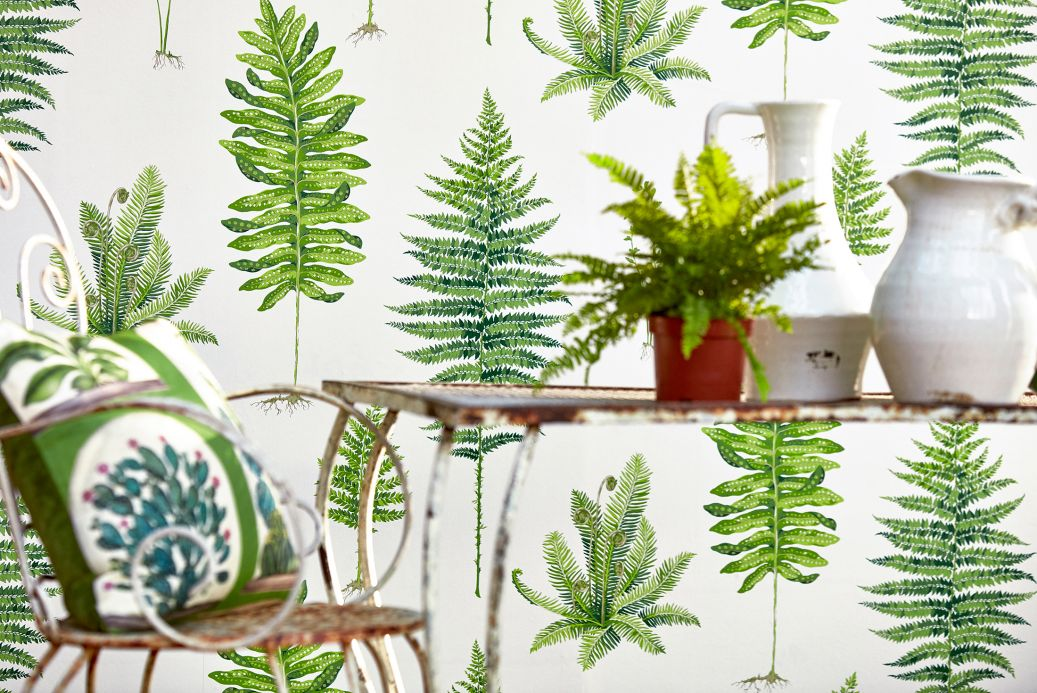 Botanical Wallpaper Wallpaper Fulvia cream Room View