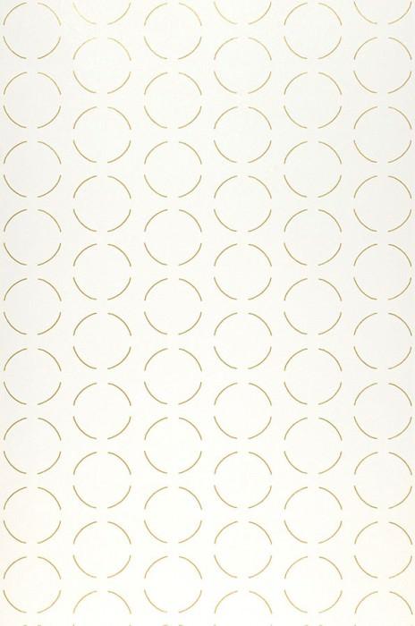 Papel de parede Circles by Porsche Padrão brilhante Superfície base mate Círculos Branco creme Ouro