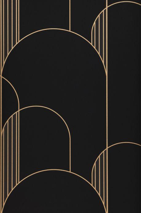 Carta da parati geometrica Carta da parati Gordan grigio antracite Bahnbreite